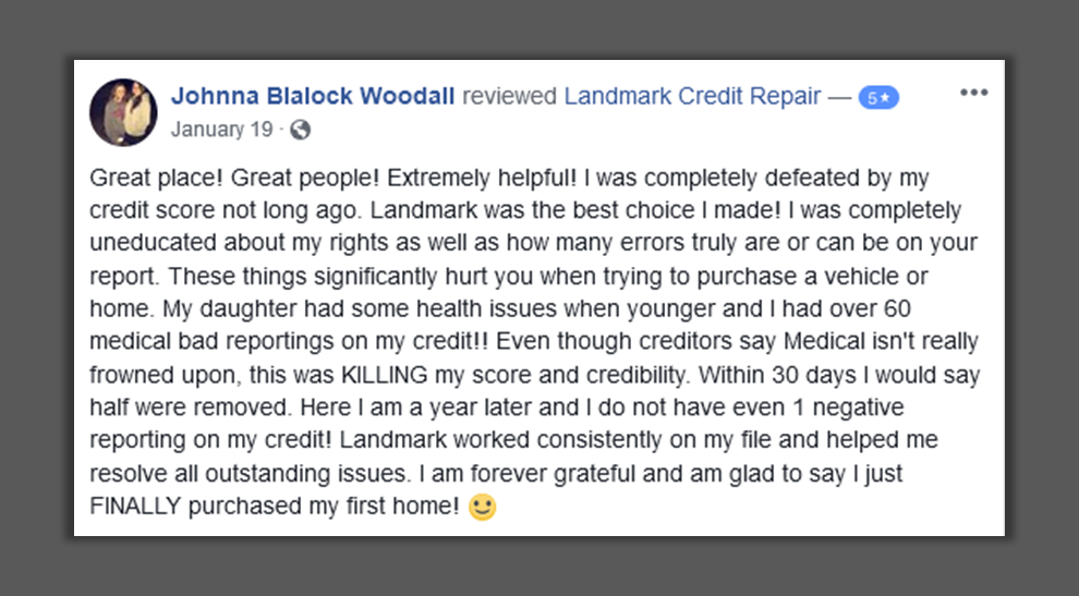 credit repair testimonial