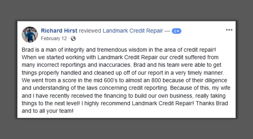Financial credit repair